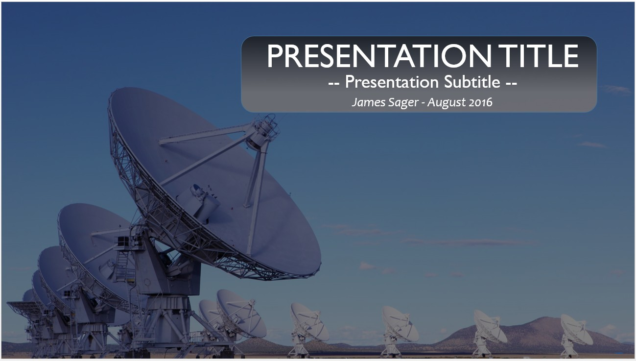 Free radio telescopes powerpoint 12676 sagefox powerpoint templates by james sager toneelgroepblik Images
