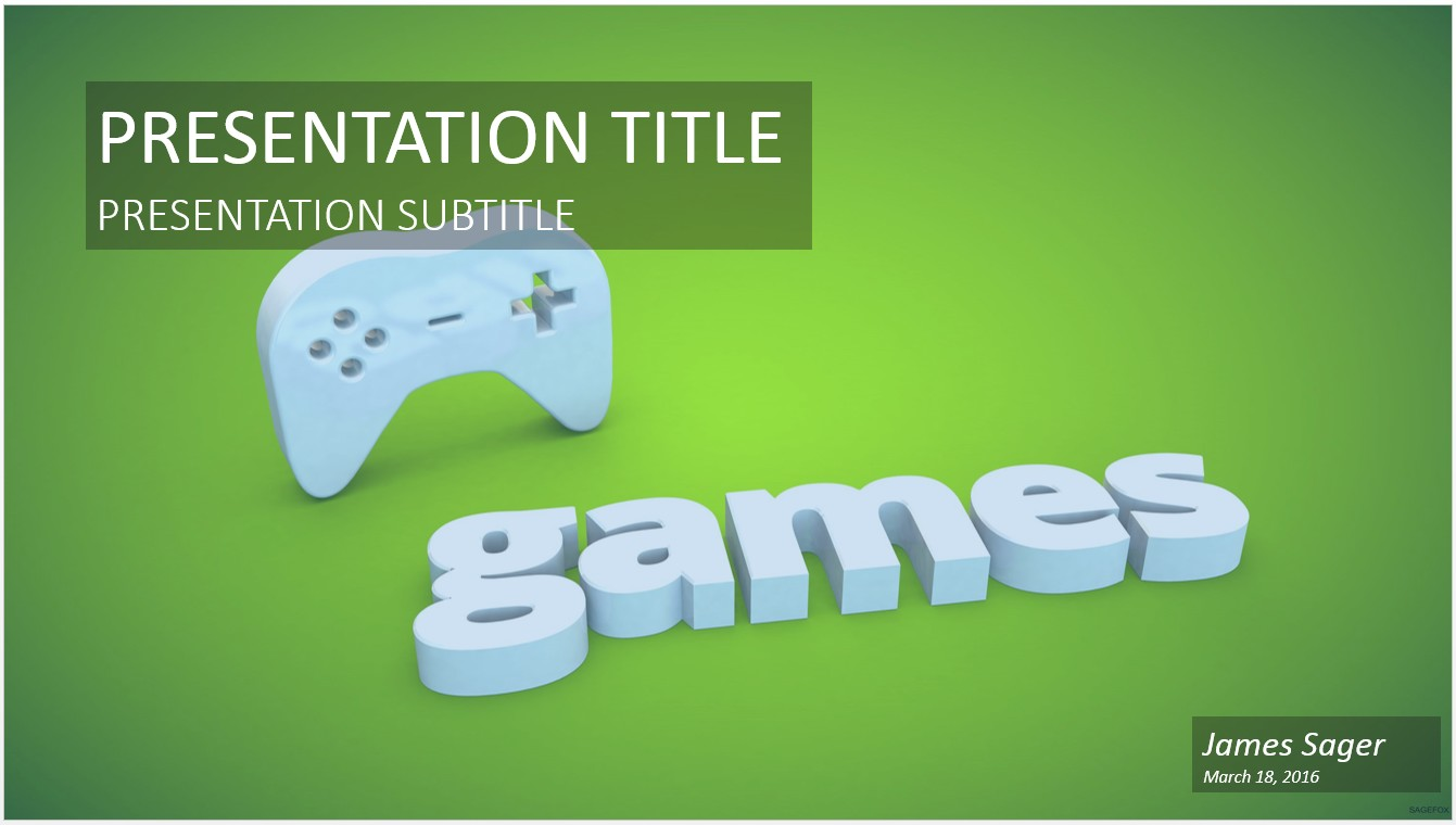 Video game templates geccetackletarts free video games powerpoint 22979 sagefox powerpoint templates video game templates toneelgroepblik Choice Image