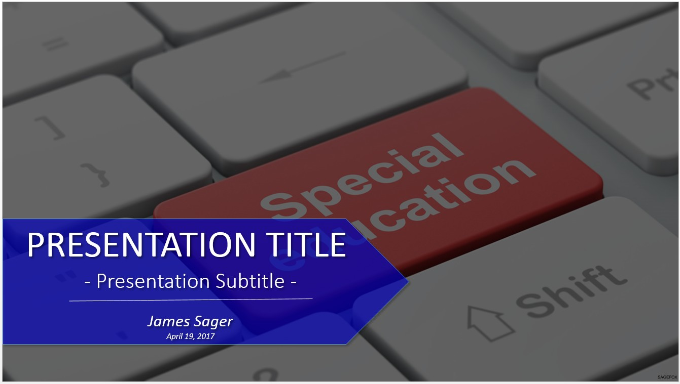 Free special education powerpoint 23480 sagefox powerpoint templates by james sager toneelgroepblik Choice Image
