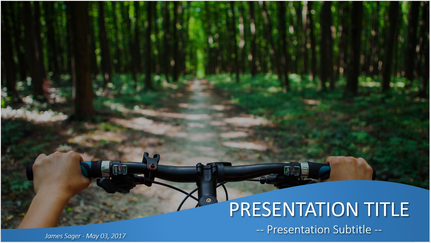 Free mountain biking powerpoint 23569 sagefox powerpoint templates by james sager toneelgroepblik Images