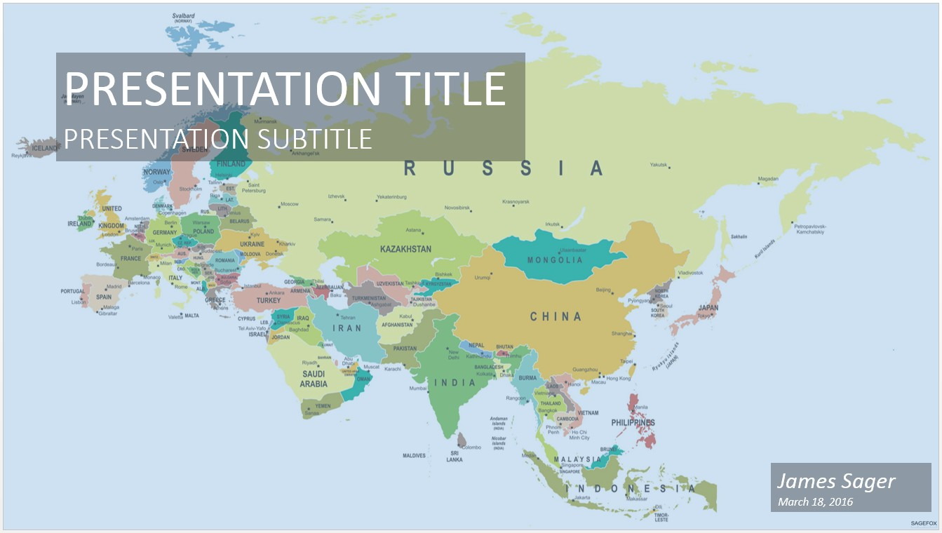 Free eurasia map powerpoint 21491 sagefox free powerpoint templates by james sager gumiabroncs Images