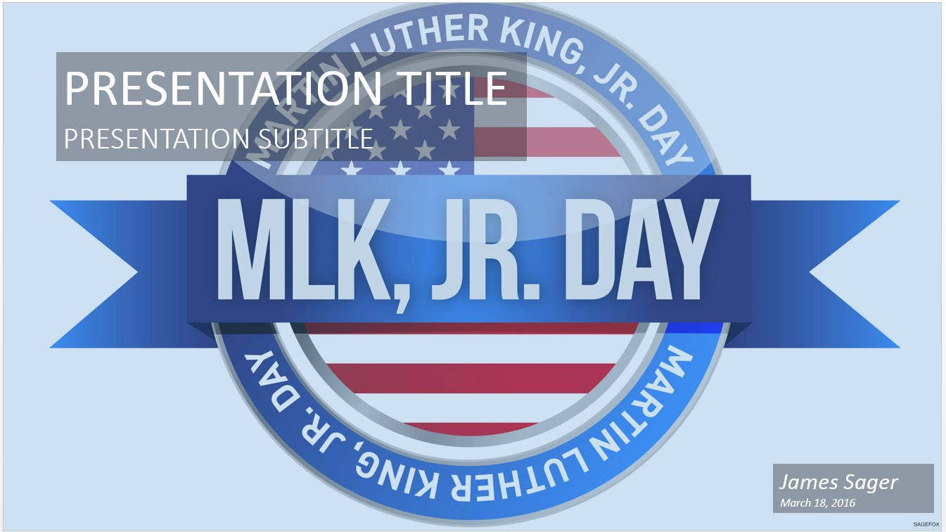 Free martin luther king jr powerpoint 21536 sagefox free by james sager toneelgroepblik Images
