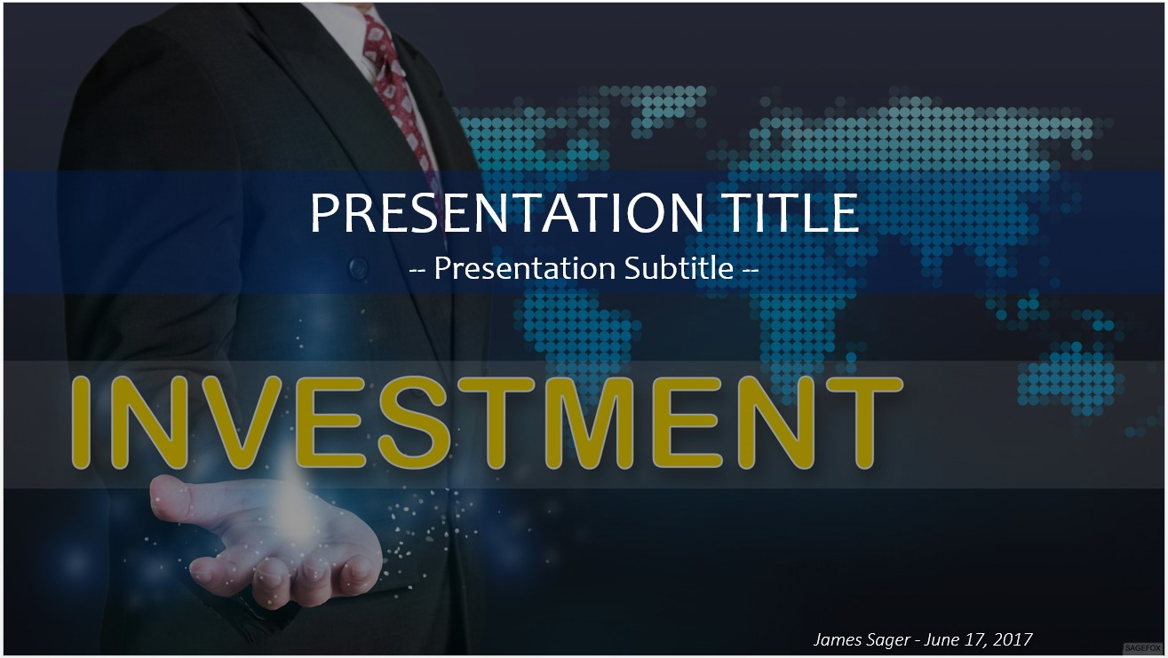 Free investment powerpoint 25490 sagefox powerpoint templates by james sager toneelgroepblik Choice Image