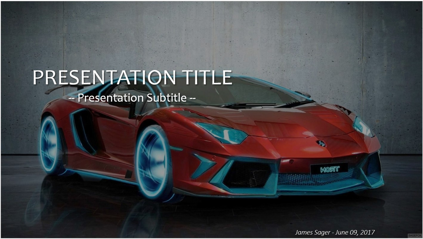 Free car powerpoint 25380 sagefox powerpoint templates by james sager toneelgroepblik Image collections