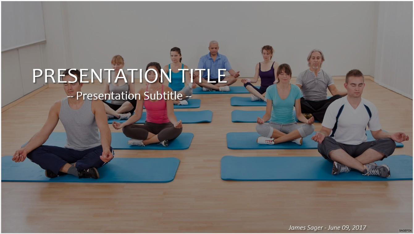 Free yoga meditation powerpoint 25360 sagefox powerpoint templates by james sager toneelgroepblik Images