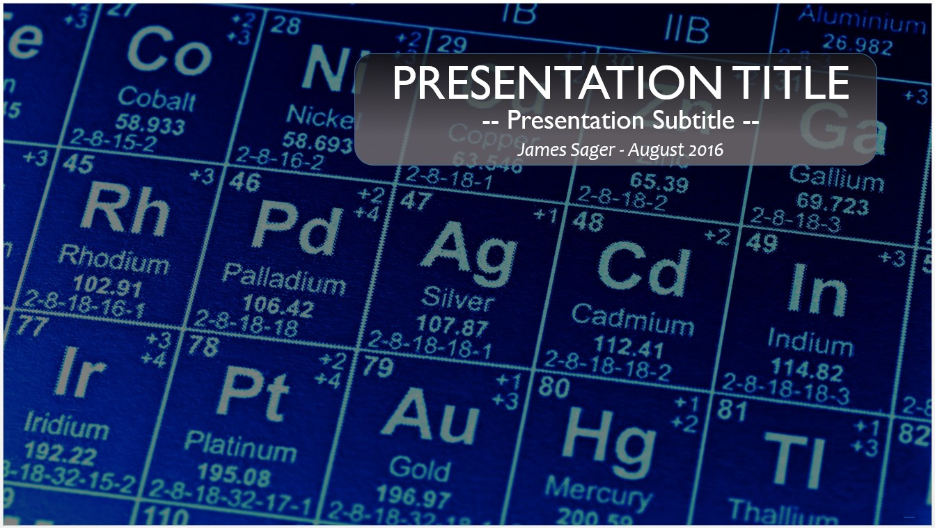 Free periodic table powerpoint 26489 sagefox powerpoint templates by james sager urtaz Images