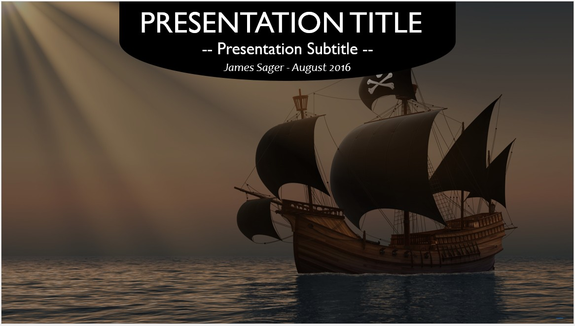 Free pirate ship powerpoint 27057 sagefox powerpoint for Pirate ship sail template
