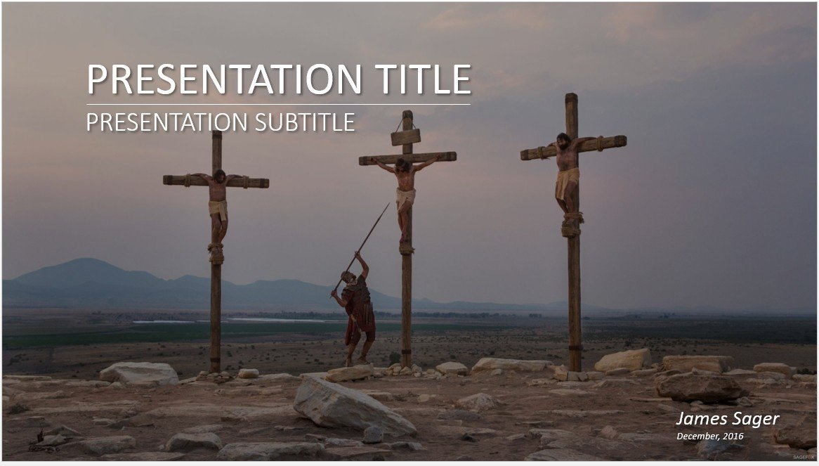 Free crucifixion of christ powerpoint 27332 sagefox powerpoint by james sager toneelgroepblik Gallery