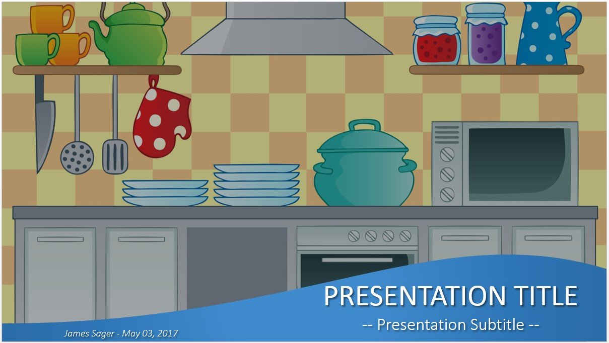 Free Kitchen Cartoon Powerpoint 27518 Sagefox Powerpoint Templates