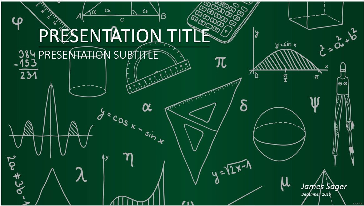 Free mathematics powerpoint 27558 sagefox free for Math powerpoint templates free download