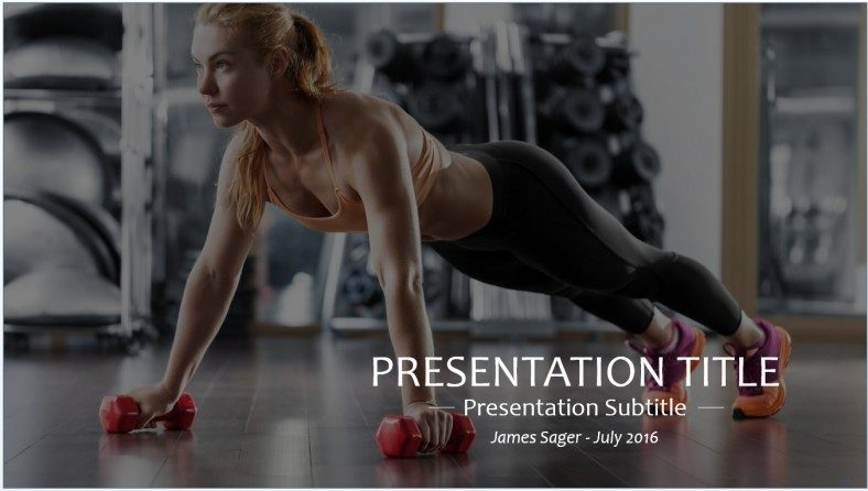 powerpoint templates free fitness choice image