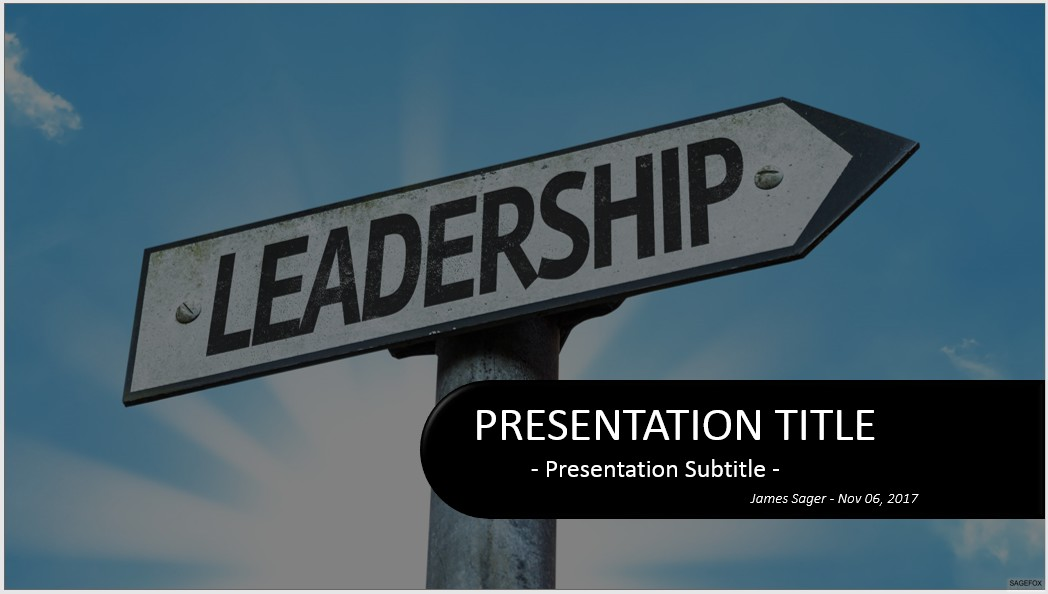 Free leadership powerpoint 32348 sagefox free powerpoint templates by james sager toneelgroepblik Image collections