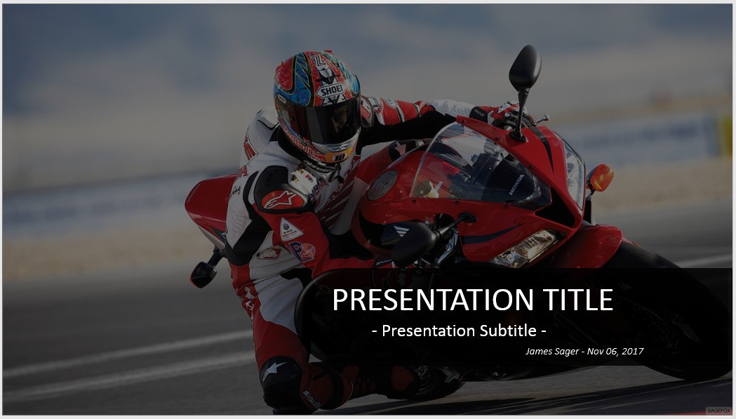 Free motorcycle powerpoint 18791 sagefox powerpoint templates motorcycle on track powerpoint toneelgroepblik Images