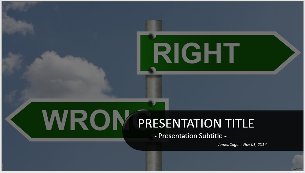 price is right powerpoint template - free right or wrong powerpoint 32842 sagefox powerpoint