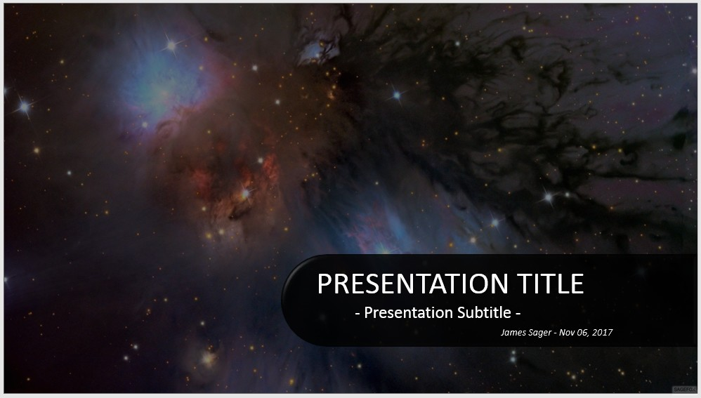 Free outer space powerpoint 32857 sagefox powerpoint templates by james sager toneelgroepblik Gallery