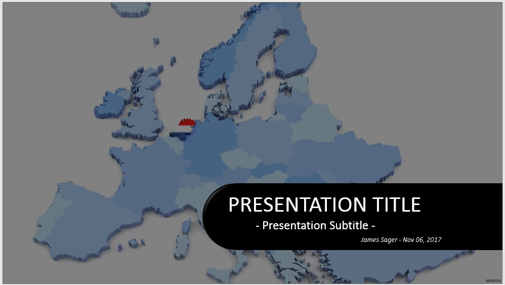 Free Netherlands with Flag PowerPoint 33272 SageFox PowerPoint