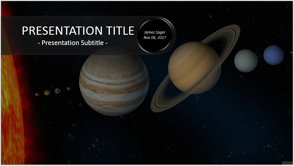 Free solar system powerpoint 33528 sagefox powerpoint templates by james sager toneelgroepblik Image collections