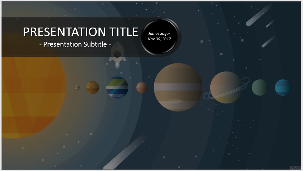 free solar system cartoon powerpoint 33718 sagefox powerpoint templates. Black Bedroom Furniture Sets. Home Design Ideas