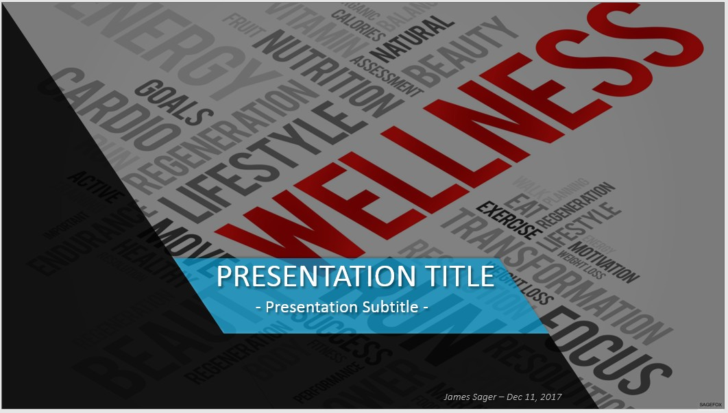 Free wellness powerpoint 33958 sagefox powerpoint templates by james sager toneelgroepblik Choice Image