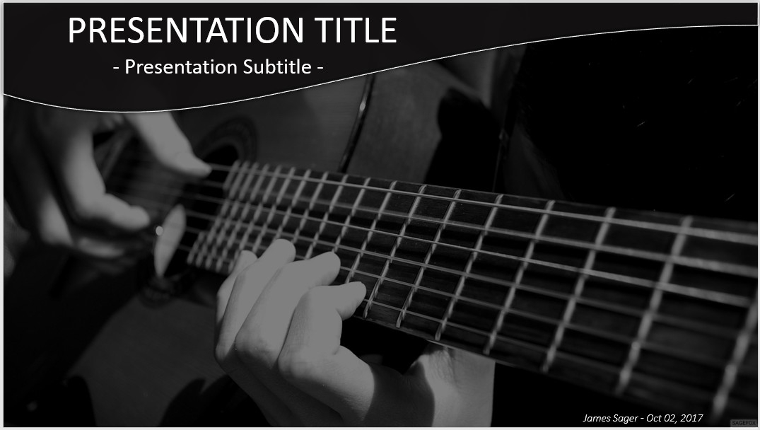 Free guitar powerpoint 34310 sagefox powerpoint templates please share this free powerpoint template toneelgroepblik Choice Image