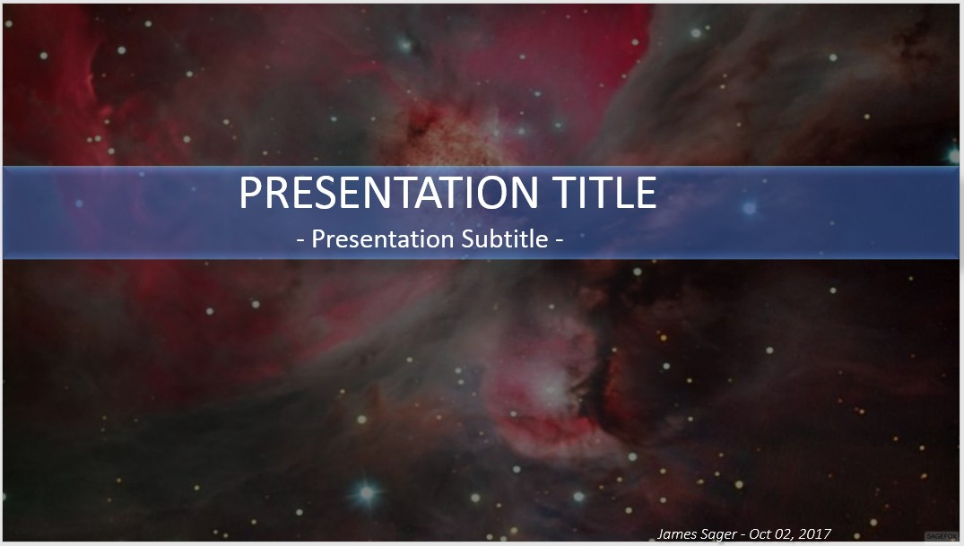 Free outer space powerpoint 34500 sagefox powerpoint templates by james sager toneelgroepblik Images