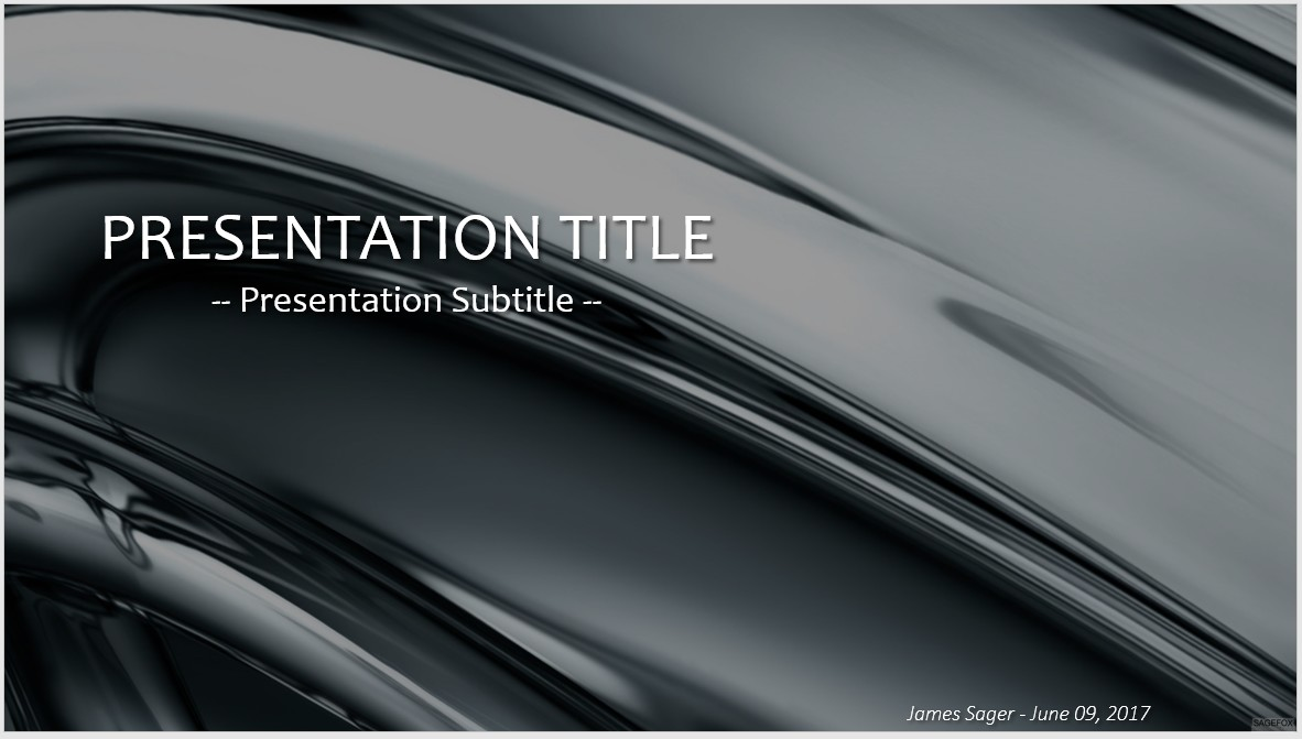 Free gray metal powerpoint 35052 sagefox powerpoint templates by james sager toneelgroepblik Choice Image