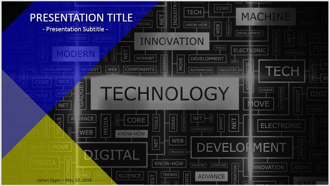 Free technology powerpoint 35358 sagefox free powerpoint templates by james sager toneelgroepblik Image collections