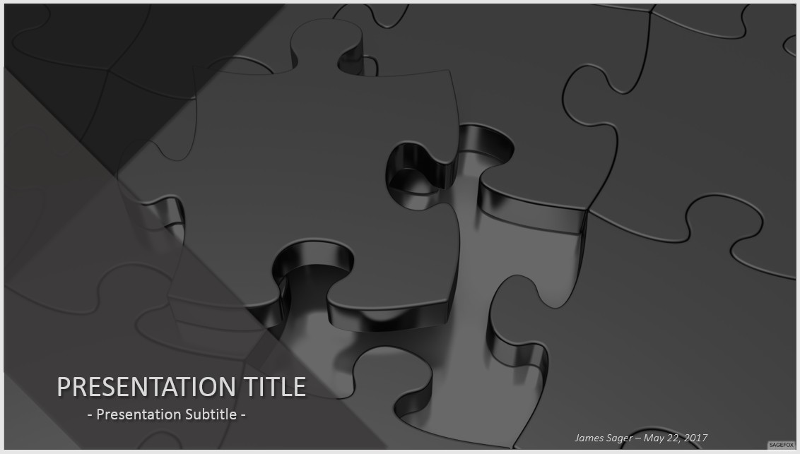 Free metal jigsaw puzzle powerpoint 35985 sagefox powerpoint by james sager toneelgroepblik Images