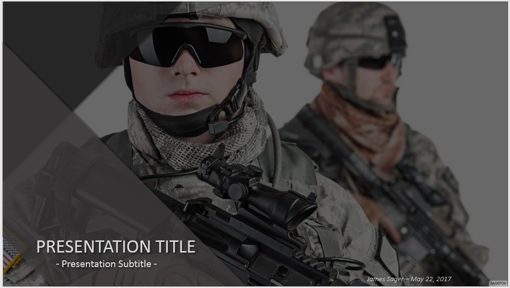 Cool military powerpoint templates photos example resume and free military powerpoint 36972 sagefox powerpoint templates toneelgroepblik Gallery