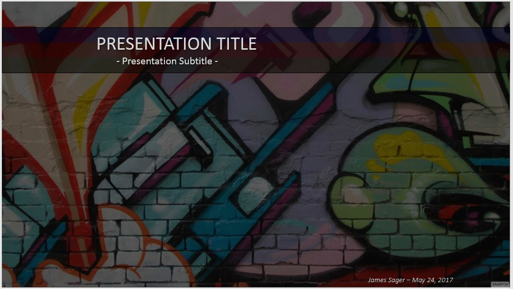 Free graffiti powerpoint 37263 sagefox powerpoint templates by james sager toneelgroepblik Image collections