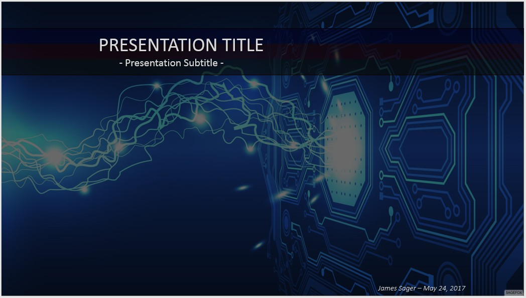 Free abstract electronic powerpoint 37705 sagefox powerpoint by james sager toneelgroepblik Image collections