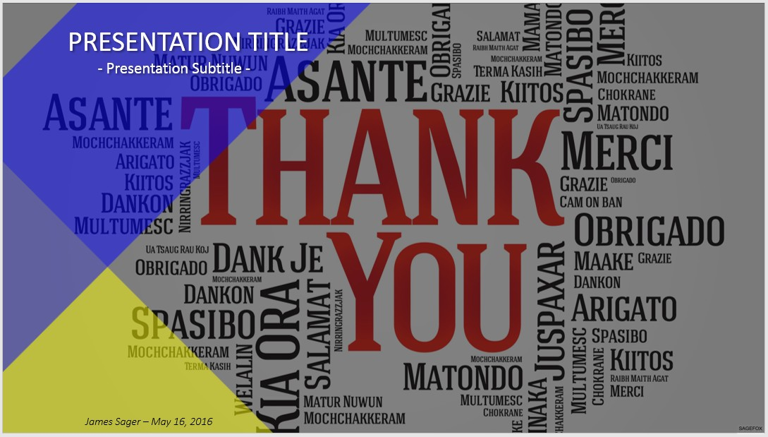Free Thank You Powerpoint 38331 Sagefox Powerpoint Templates