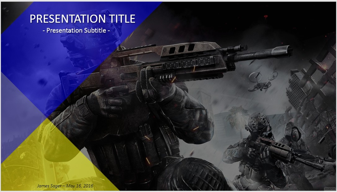 Free call of duty powerpoint 38406 sagefox powerpoint templates by james sager toneelgroepblik Image collections