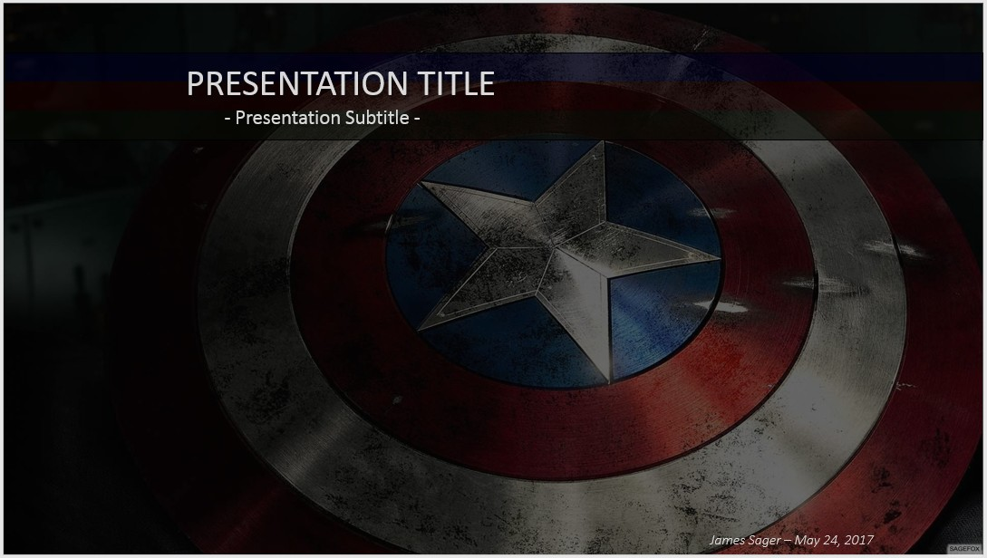 free captain america powerpoint 38616 sagefox powerpoint templates. Black Bedroom Furniture Sets. Home Design Ideas