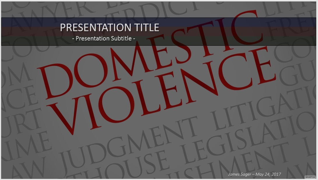 Free domestic violence powerpoint 39069 sagefox powerpoint templates by james sager toneelgroepblik Choice Image