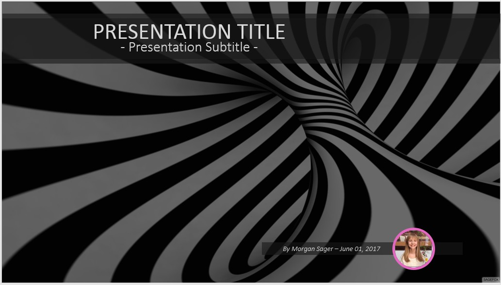 Free black and white abstract powerpoint 39250 sagefox powerpoint by james sager toneelgroepblik Images