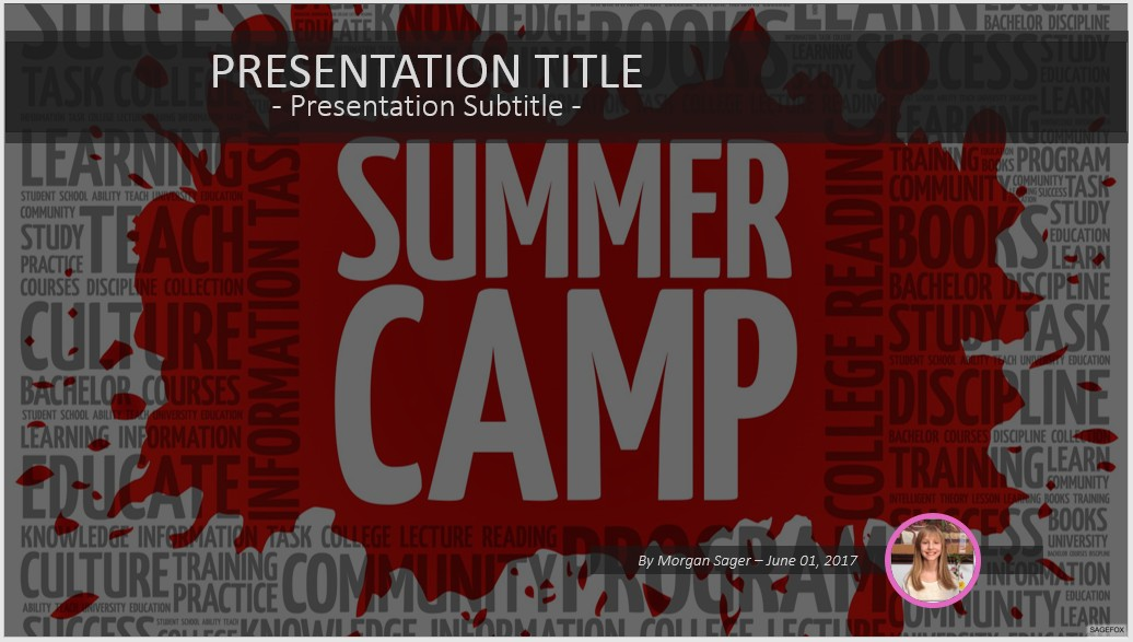 Free summer camp powerpoint 39502 sagefox free powerpoint templates by james sager toneelgroepblik Images