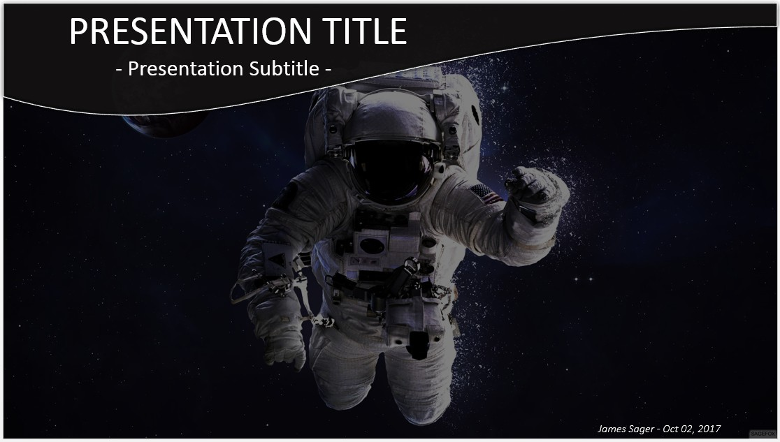 Free astronaut in outer space powerpoint 29251 sagefox powerpoint by james sager toneelgroepblik Choice Image