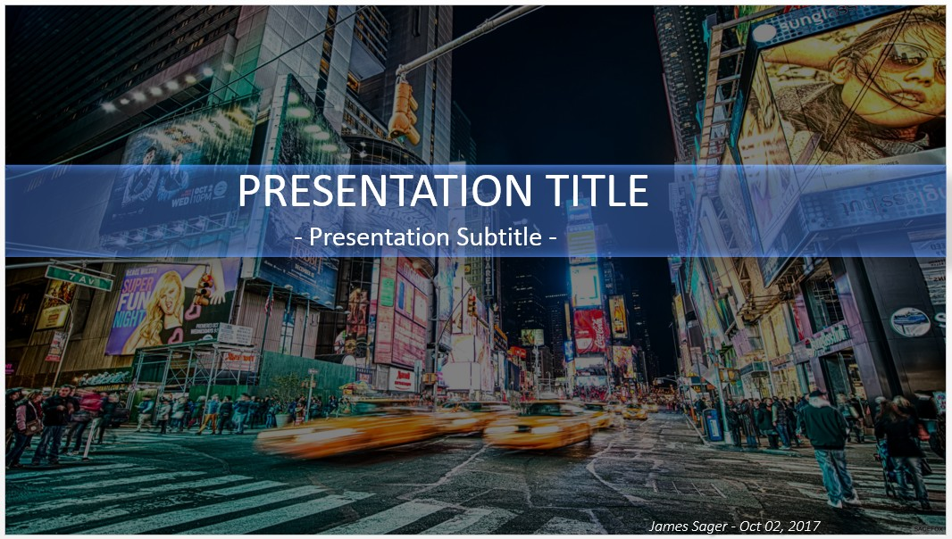 Free times square new york powerpoint 29542 sagefox free by james sager toneelgroepblik Image collections