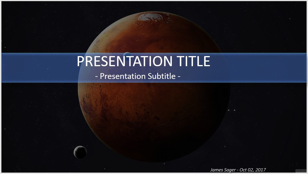 Free mars powerpoint 30558 sagefox powerpoint templates by james sager toneelgroepblik Image collections