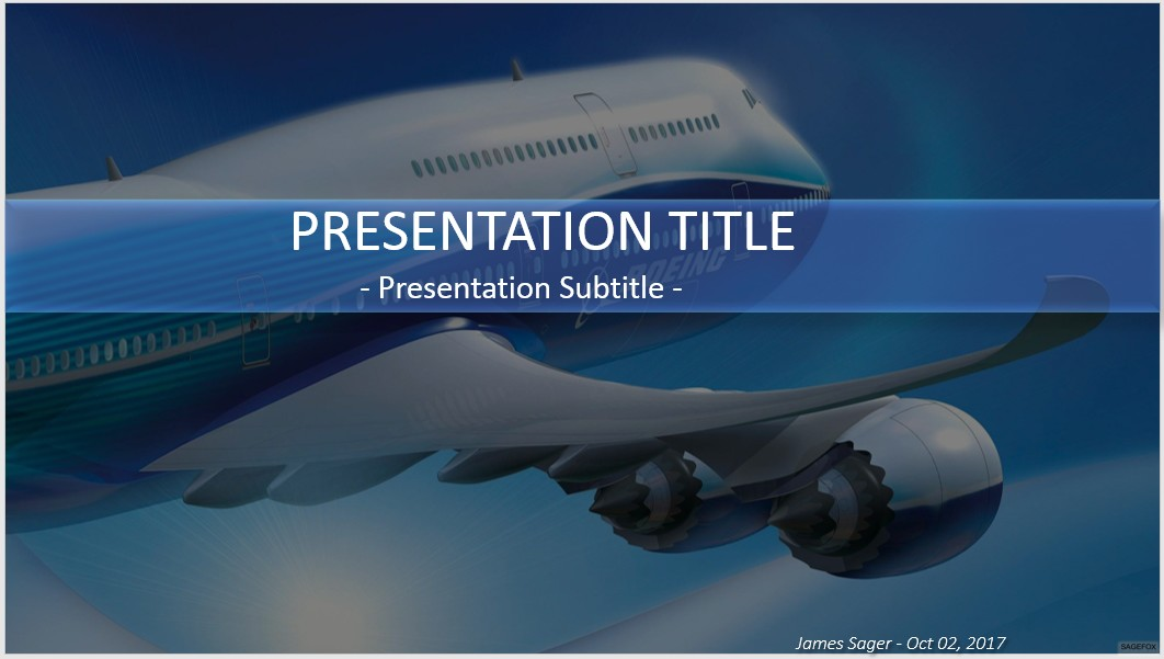 Great airplane powerpoint template gallery example resume ideas free airplane powerpoint 30614 sagefox powerpoint templates toneelgroepblik Choice Image