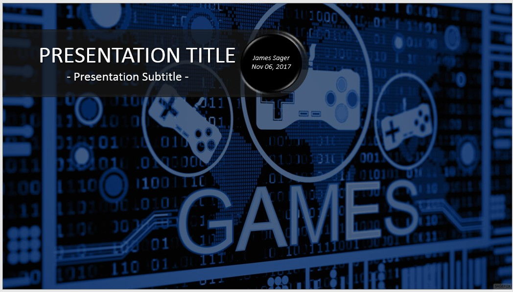 Free Video Games Powerpoint   Sagefox Powerpoint Templates
