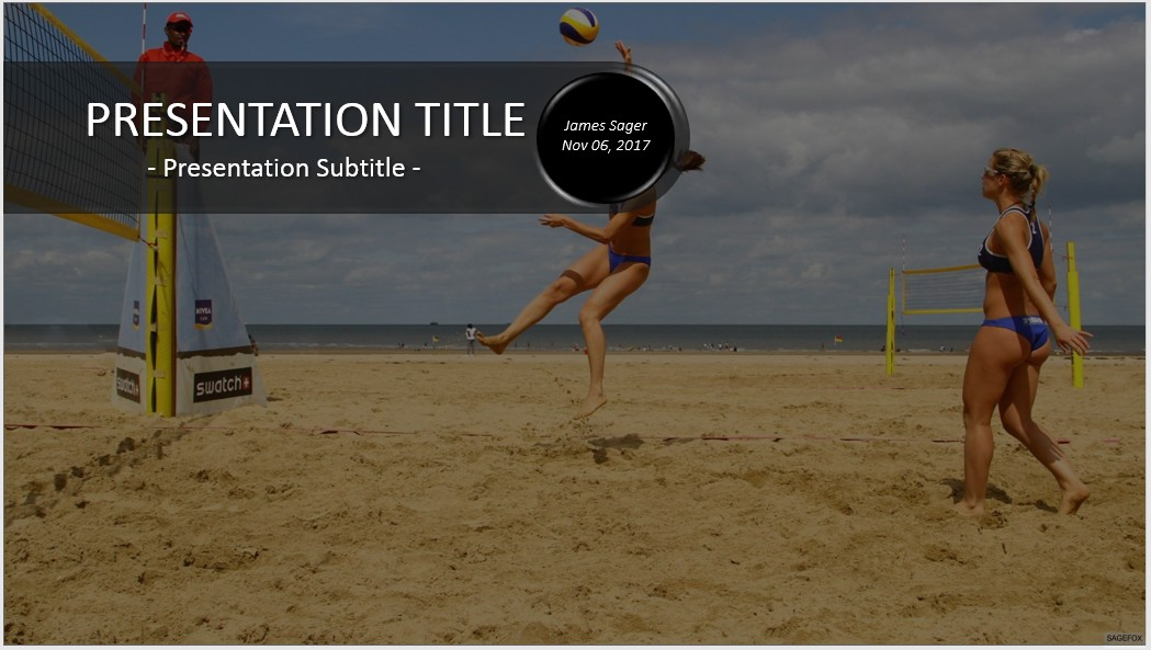 Free beach volleyball powerpoint 31334 sagefox powerpoint templates by james sager toneelgroepblik Gallery