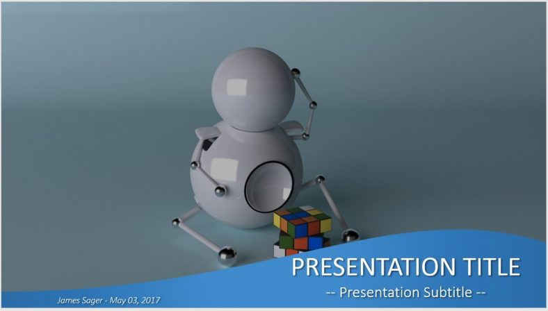 Free robot with rubiks cube powerpoint 31695 sagefox powerpoint robot with rubiks cube powerpoint toneelgroepblik Gallery
