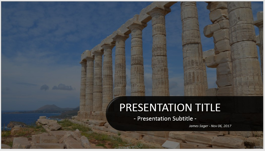 Free temple of poseidon powerpoint 31745 sagefox powerpoint by james sager toneelgroepblik Image collections