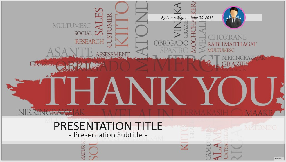 Free Thank You Powerpoint 41089 Sagefox Powerpoint Templates