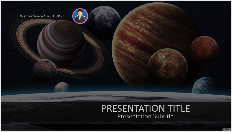 Free solar system planets powerpoint 42028 sagefox powerpoint by james sager toneelgroepblik Image collections