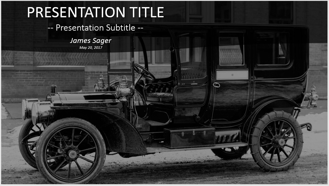 Free Old Car Packard PowerPoint #42258 | SageFox PowerPoint Templates.