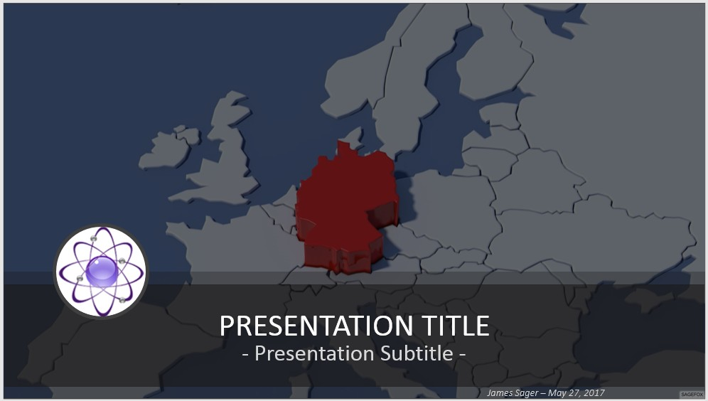 Free germany map powerpoint 42409 sagefox powerpoint templates by james sager toneelgroepblik Images