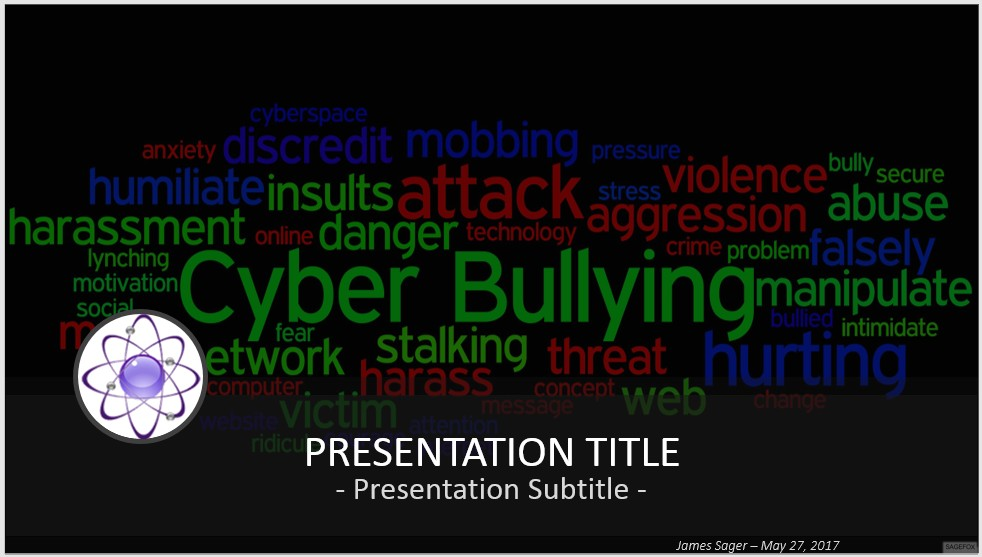 Free cyber bullying powerpoint 43601 sagefox powerpoint templates by james sager toneelgroepblik Choice Image